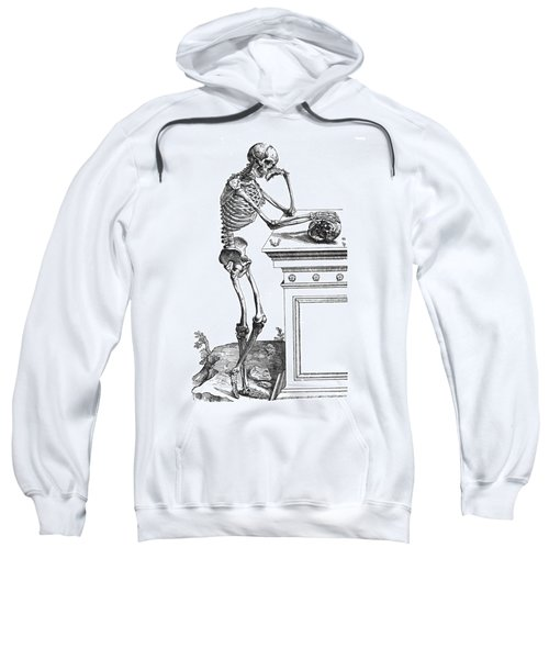 Vesalius: Skeleton, 1543 Sweatshirt