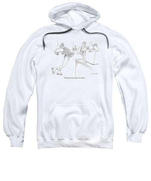 Iced Grande Soy Triple-lutz Latte! Sweatshirt