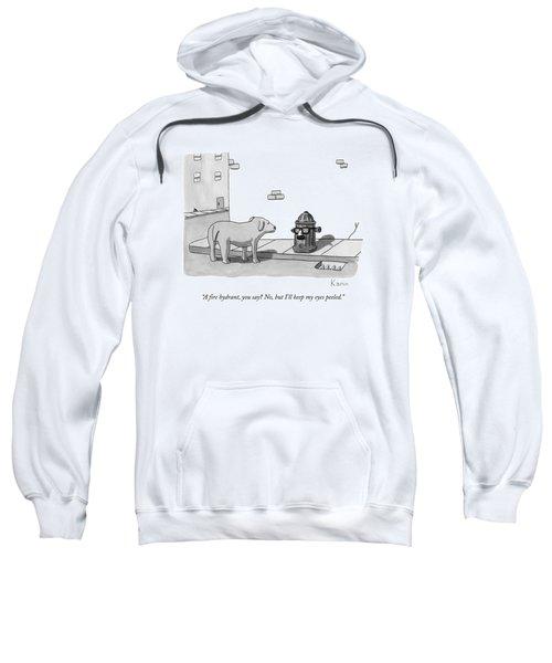 A Fire Hydrant Sweatshirt
