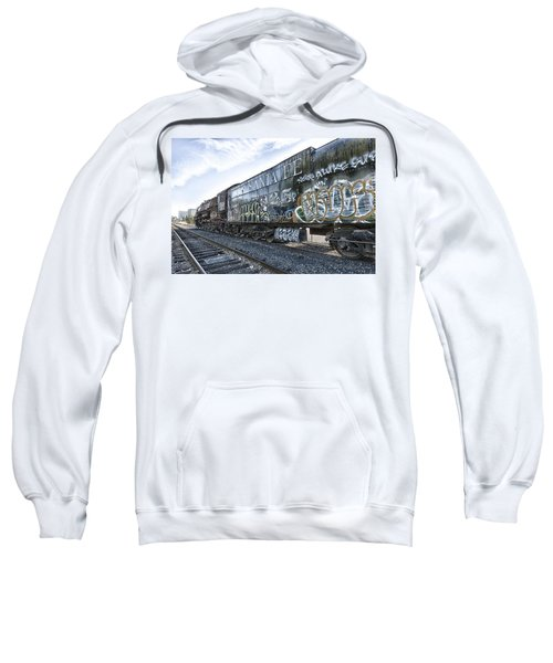 Sweatshirt featuring the photograph 4 8 4 Atsf 2925 In Repose by Jim Thompson