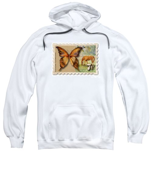7 Cent Butterfly Stamp Sweatshirt