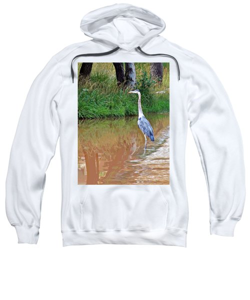 Blue Heron On The East Verde River Sweatshirt