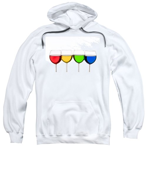 Colorful Wine Glasses Sweatshirt