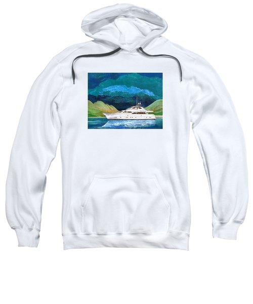 82 Foot Megayacht Domino Portrait Sweatshirt