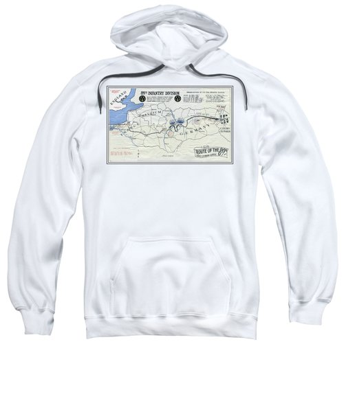 89th Infantry Division World War I I Map Sweatshirt