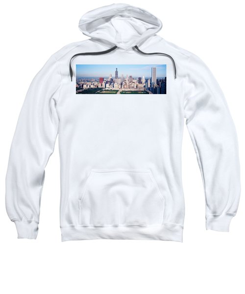 Aerial View Of Buildings In A City Sweatshirt by Panoramic Images