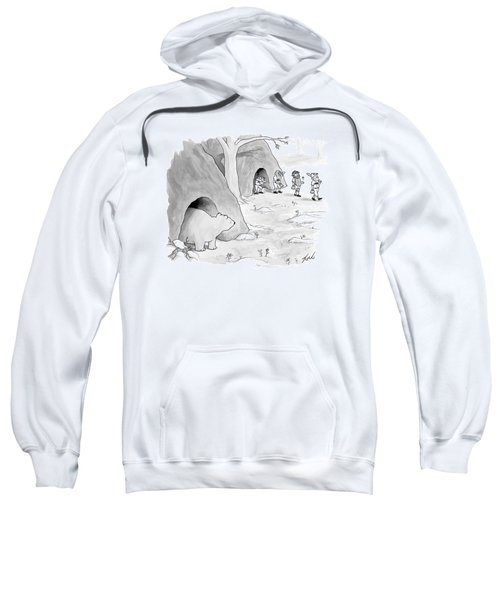 A Bear Emerges From A Cave Sweatshirt