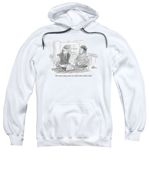 A Bearded Wise Man Looks Over A Book Sweatshirt