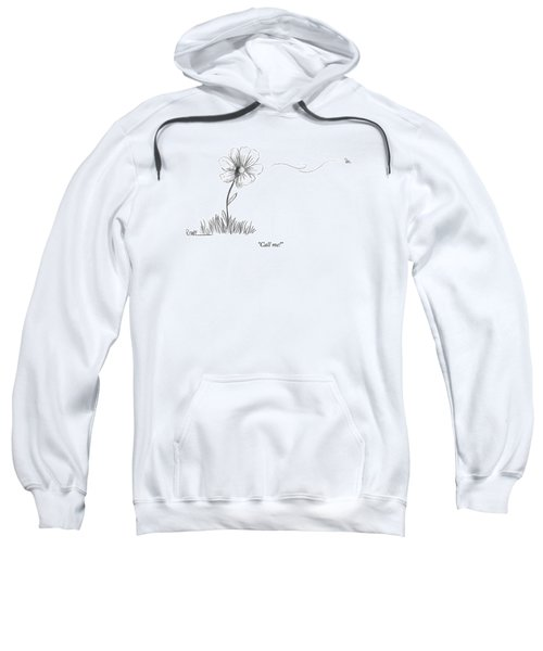 A Bee Flying Away From A Daisy After Pollination Sweatshirt