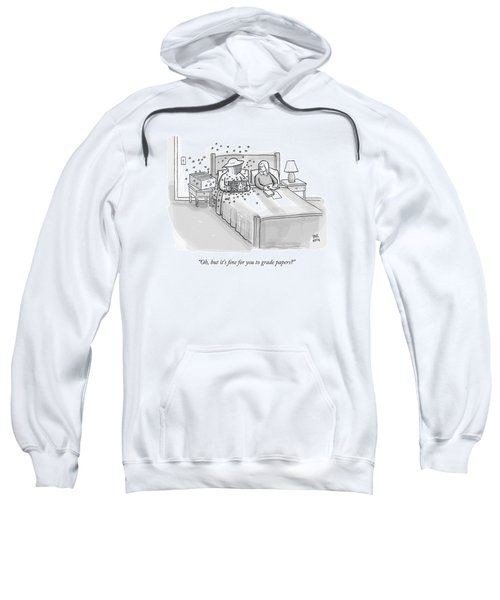 A Beekeeper Surrounded By Bees Is Sitting In Bed Sweatshirt