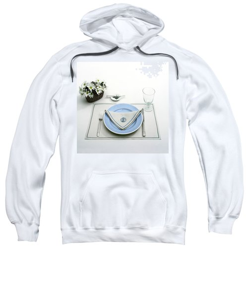 A Blue Table Setting Sweatshirt