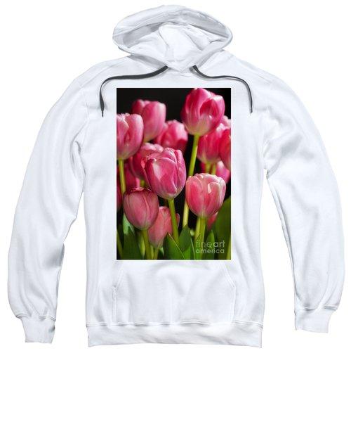 A Bouquet Of Pink Tulips Sweatshirt
