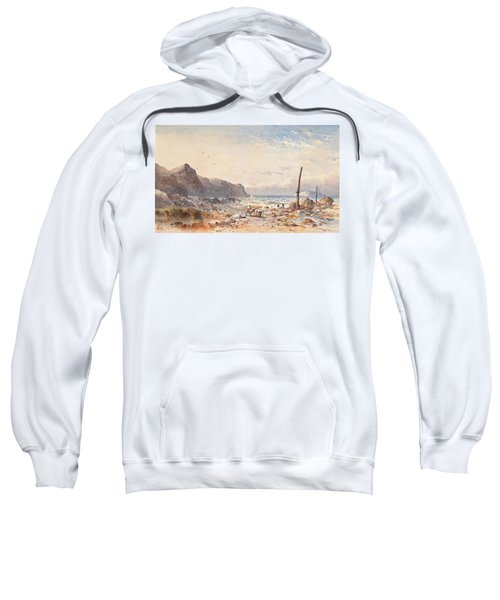 A Breezy Day With Fisherfolk On The Foreshore Sweatshirt
