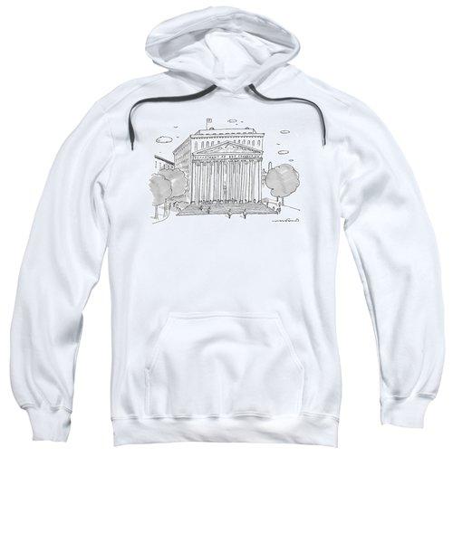 A Building In Washington Dc Is Shown Sweatshirt by Michael Crawford