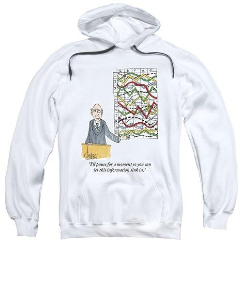 A Businessman Stands Behind A Podium Sweatshirt