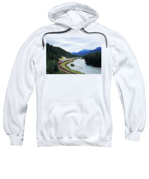A Canadian Pacific Train Makes Its Way Sweatshirt
