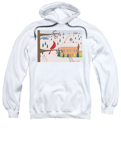 A Cardinal Christmas Sweatshirt