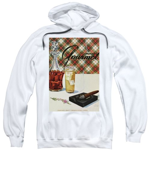 A Cigar In An Ashtray Beside A Drink And Decanter Sweatshirt