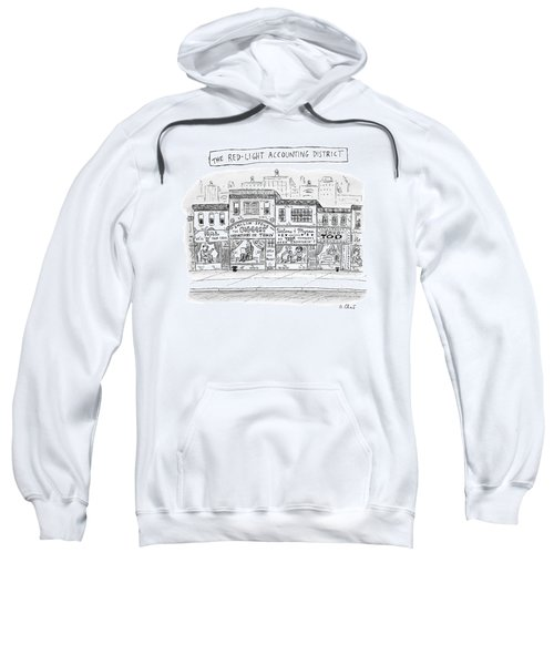 A City Block Is Full Of Buildings With Glass Sweatshirt