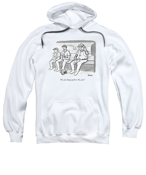 A Coach In A Baseball Dugout Speaks On The Phone Sweatshirt