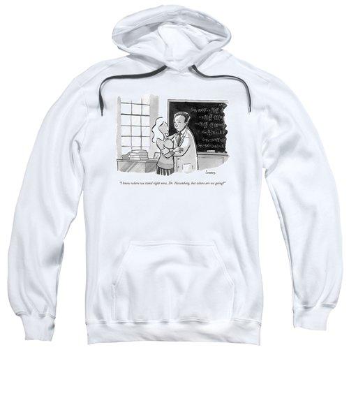 A Concerned Woman Embraces Dr. Heisenberg Sweatshirt
