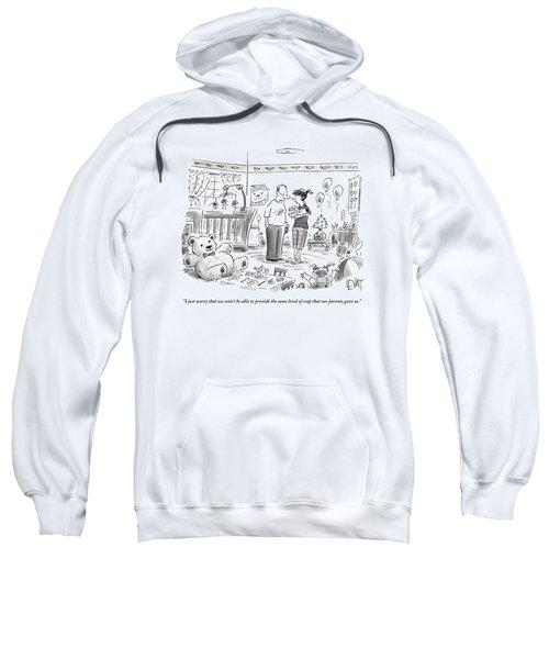 A Couple Is Talking In The Bedroom Sweatshirt