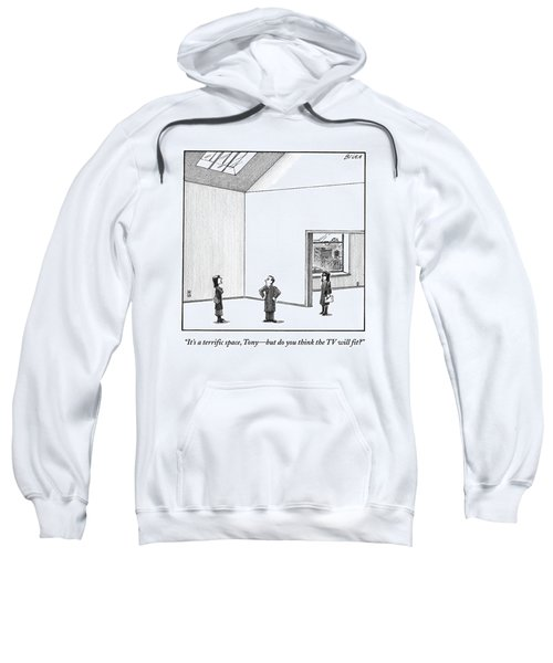 A Couple Looks At A Huge Apartment With A Real Sweatshirt