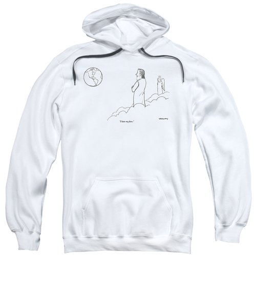 A Disappointed-looking God Remarks To An Angel Sweatshirt