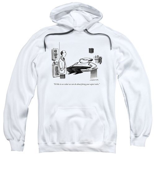 A Doctor Speaks To A Patient Whose Dimensions Sweatshirt