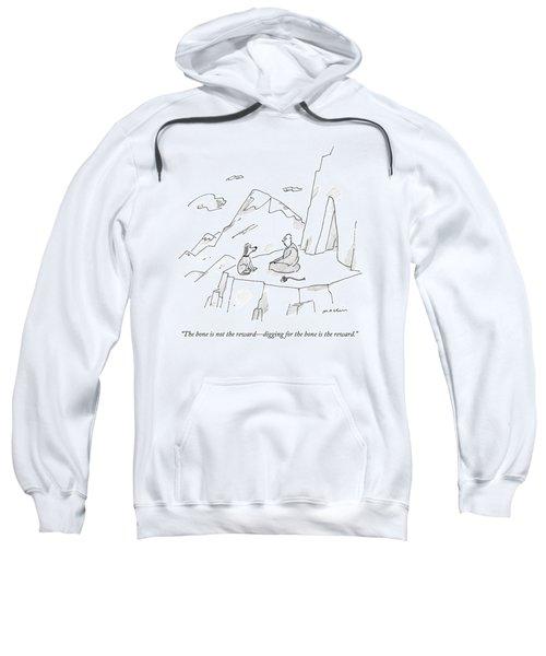 A Dog Speaks To A Guru On Top Of A Mountain Sweatshirt