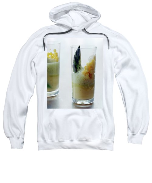 A Drink With Asparagus Sweatshirt by Romulo Yanes