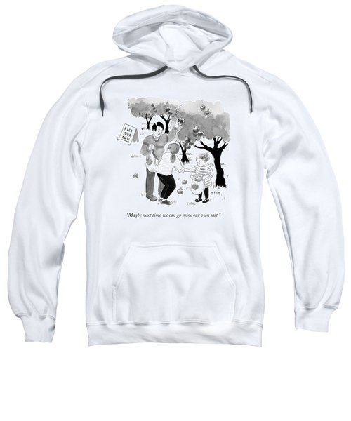 A Family Picks Apples Right From The Tree Sweatshirt