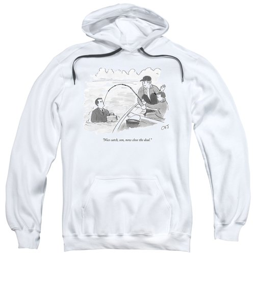 A Father And Son On A Fishing Trip Pull Sweatshirt