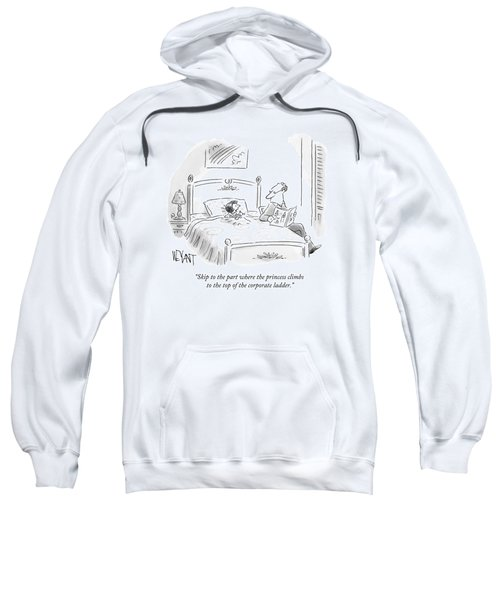 A Father Reads His Daughter A Bedtime Story Sweatshirt