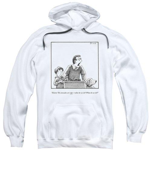 A Father, Son, And Dog All Worry At The Sight Sweatshirt