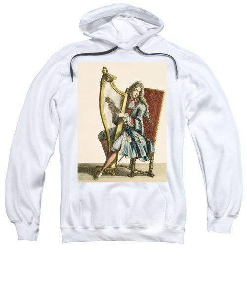 A Gentleman Playing The Harp Sweatshirt