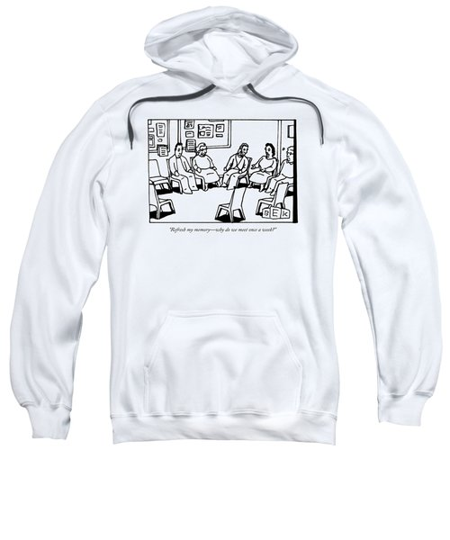 A Group Of Adults Sit In A Circle At A Group Sweatshirt