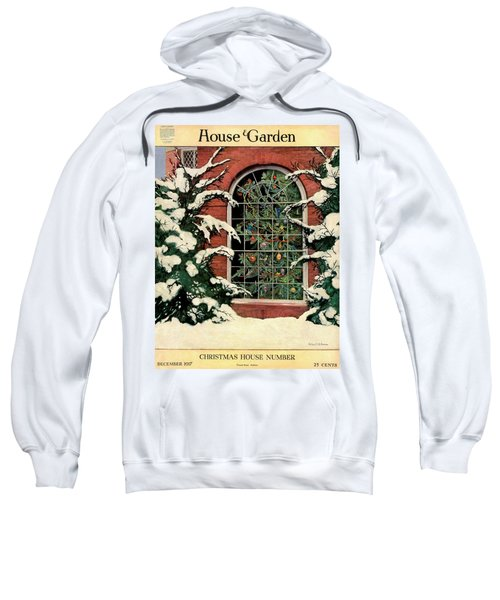 A House And Garden Cover Of A Christmas Tree Sweatshirt