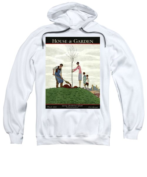 A House And Garden Cover Of People Planting Sweatshirt