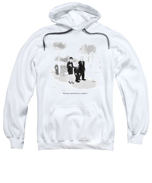 A Husband And Wife At A Funeral Comfort Sweatshirt