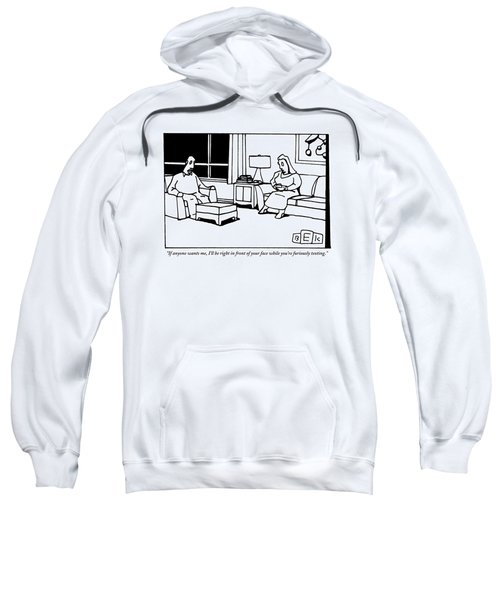 A Husband And Wife Sit In Their Living Room Sweatshirt