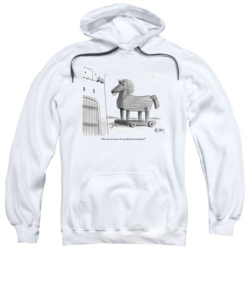 A Large Wooden Horse Sweatshirt