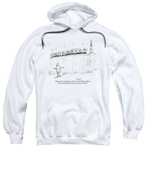A Lawyer Representing A Corporation Standing Sweatshirt