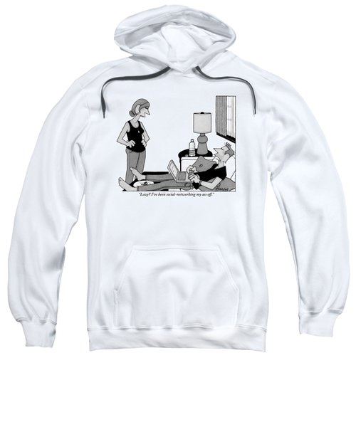 A Lazy Husband On A Couch Speaks Sweatshirt