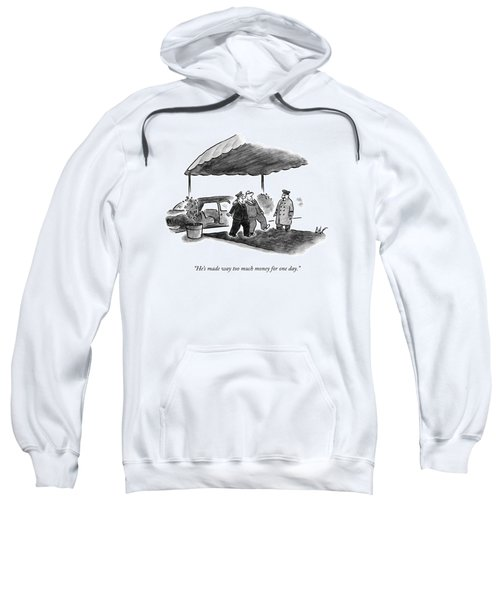 A Limousine Driver Helps A Drunk-looking Ceo Walk Sweatshirt