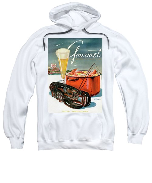 A Lobster And A Lobster Pot With Beer Sweatshirt by Henry Stahlhut