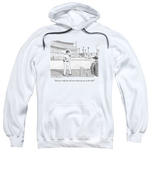 A Major League Baseball Player On Deck Sweatshirt