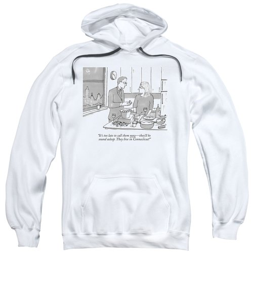 A Man And Wife Stand In The Kitchen Sweatshirt