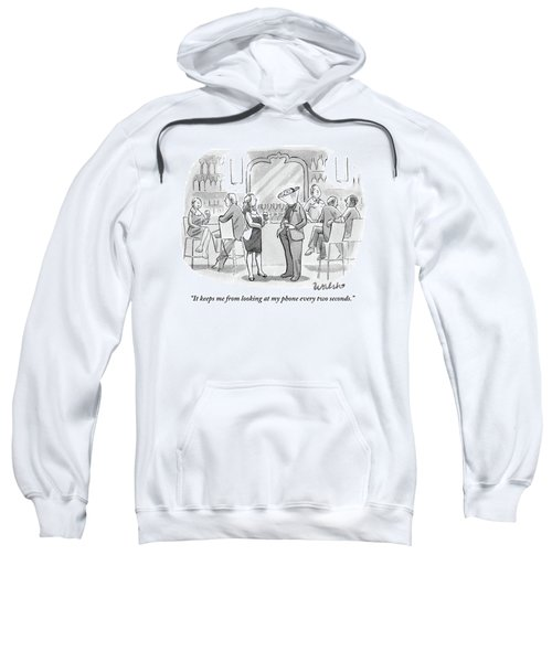 A Man And Woman Talk At The Bar Sweatshirt