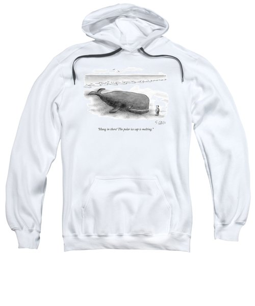 A Man Comforts A Beached Whale That Climate Sweatshirt